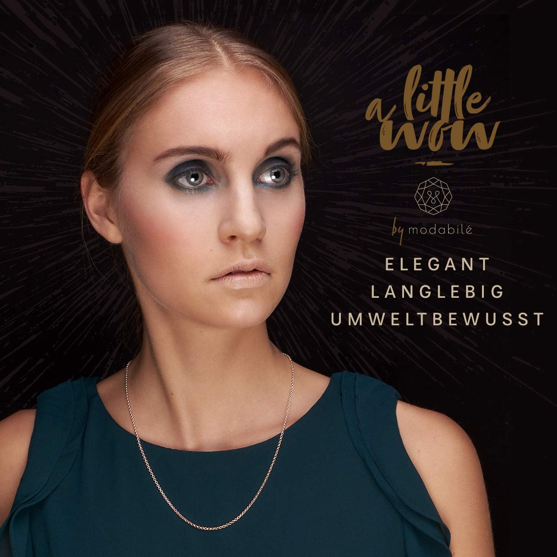 modabilé Ankerkette Damen Halskette Roségold Vergoldet aus