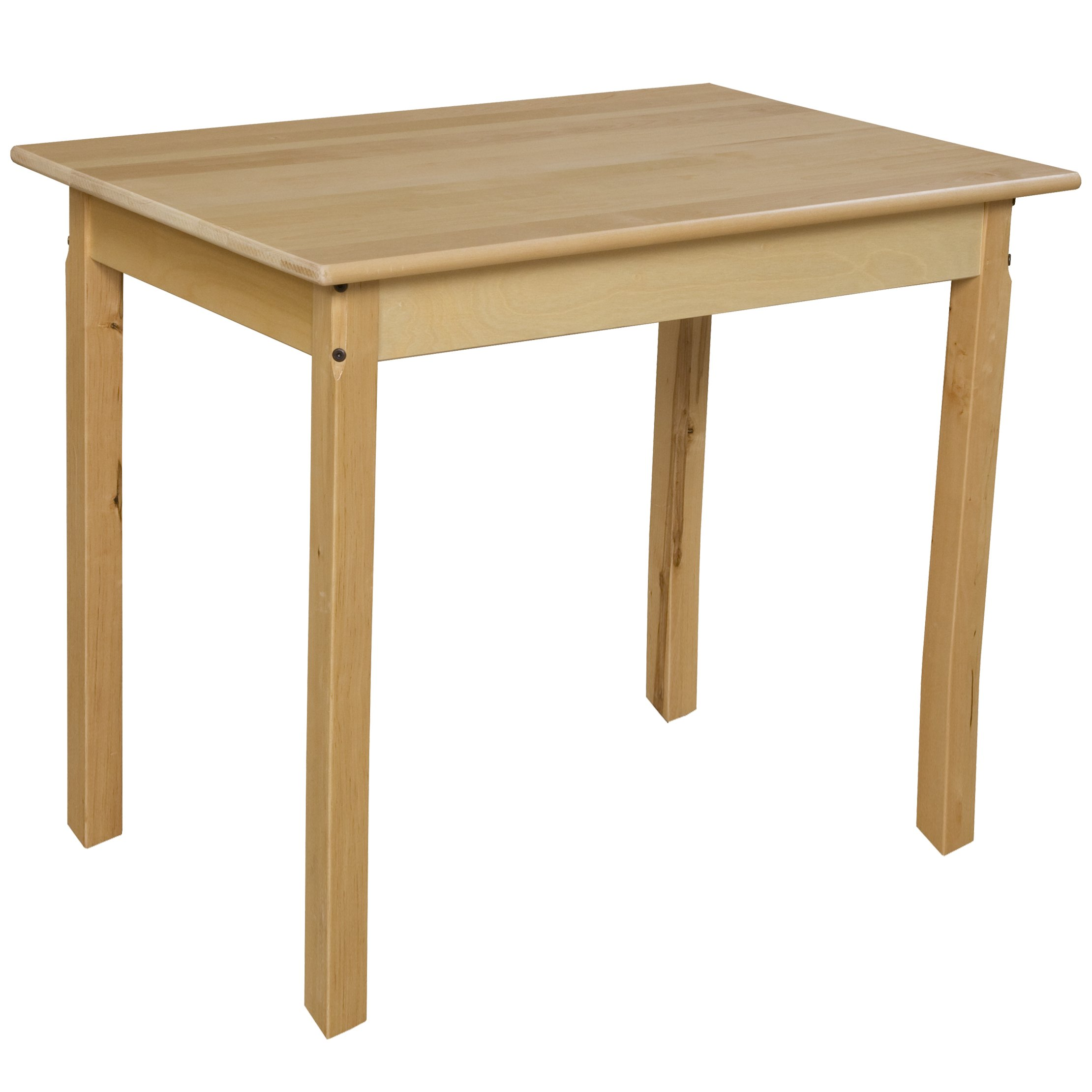 Wood Designs WD82329 Rectangle Hardwood Table with 29'' Legs, 24'' x 36'', Natural