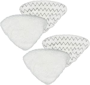 Revin-Sky 4 Pack (2Soft & 2Scrubby) Replacement Steam Mop Pads Compatible with Bissel PowerEdge and PowerForce Lift-Off Steam Mop 2078, 2165, 20781 Series Mop Pads Refill