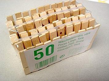 100 Stuck Holz Wascheklammern 2x 50 Stk Amazon De Kuche Haushalt