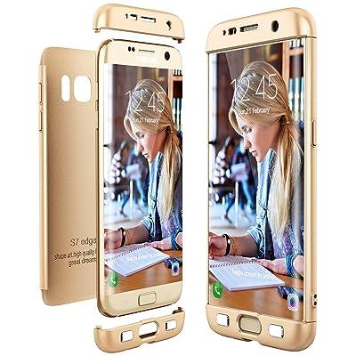 3bbe37fe184 CE-Link Funda para Samsung Galaxy S7 Edge Rigida 360 Grados Integral,  Carcasa S7 Edge Silicona Snap On Diseño Antigolpes Choque Absorción, Samsung  S7 Edge ...