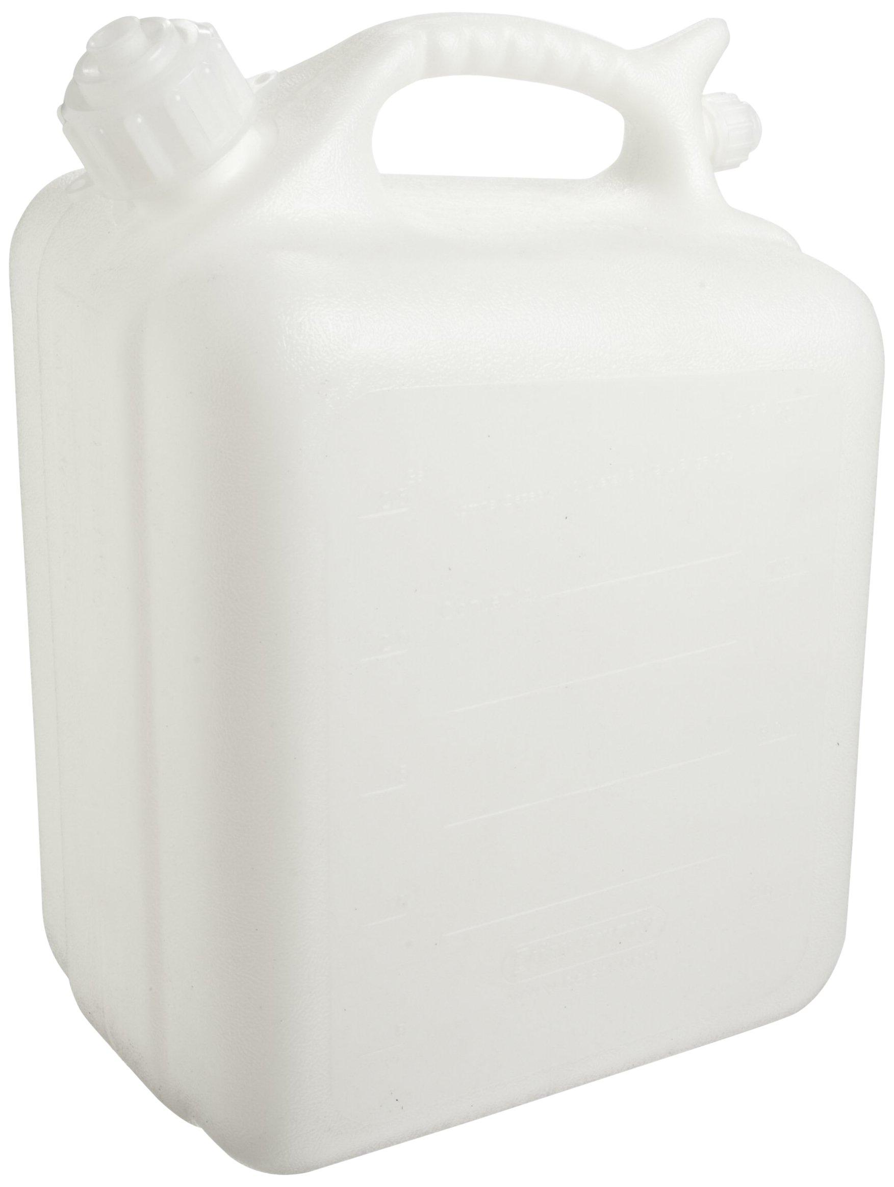 Bel-Art Polyethylene Jerrican; 5 Liters (1.25 Gallons), Screw Cap, 1 in. I.D. Spout (H10935-0000)