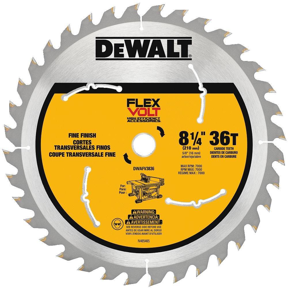Dewalt dwafv3836 flexvolt 36t table saw blade 8 14 amazon greentooth Gallery