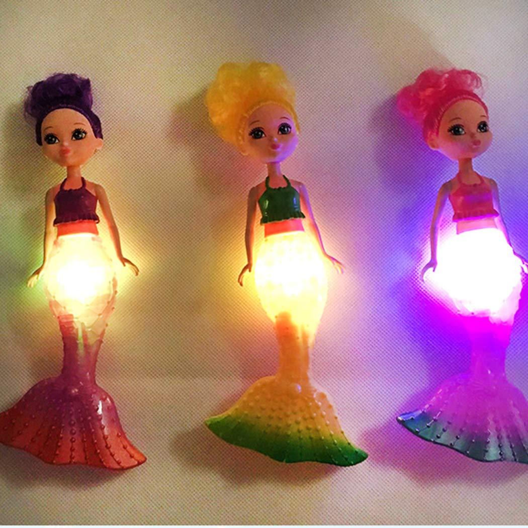 Wwweyi Wekold Flash LED Light Swimming Mermaid Princess Educational Doll Girls Toy Gift Dolls