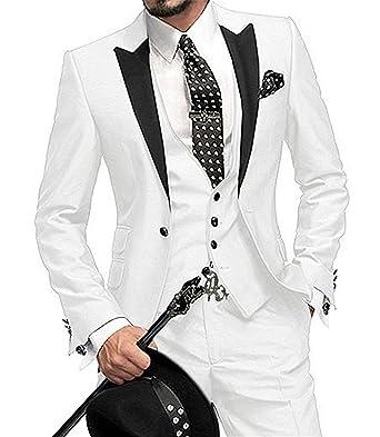 Kengtong Costume Homme Père de Cérémonie pour Mariage Réunion Business  d affaires Couleur Unie Bleu 4ae90abc9a0
