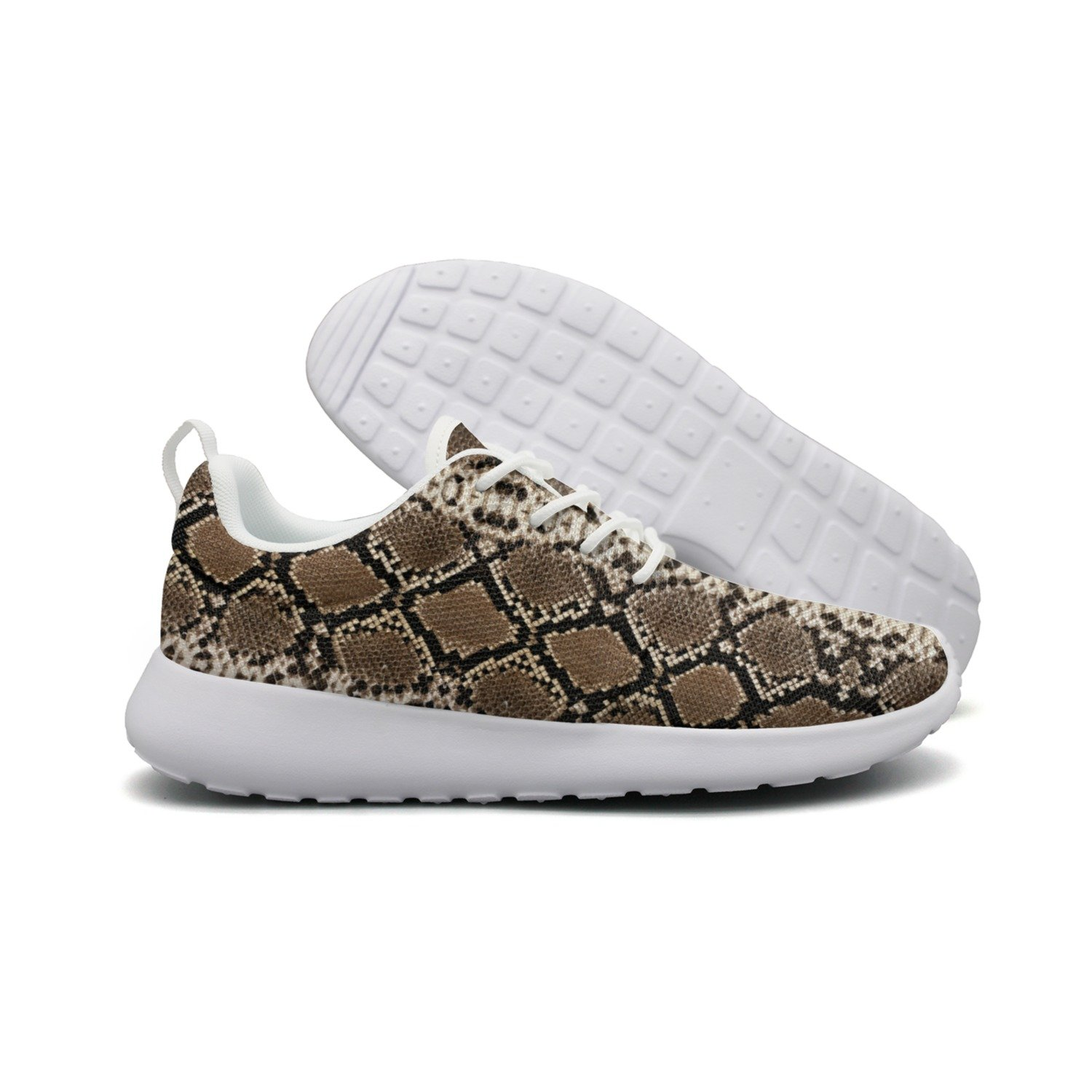 FUFGT Black Snake Skin Women Printing Design Running Shoes Unique Comfortable