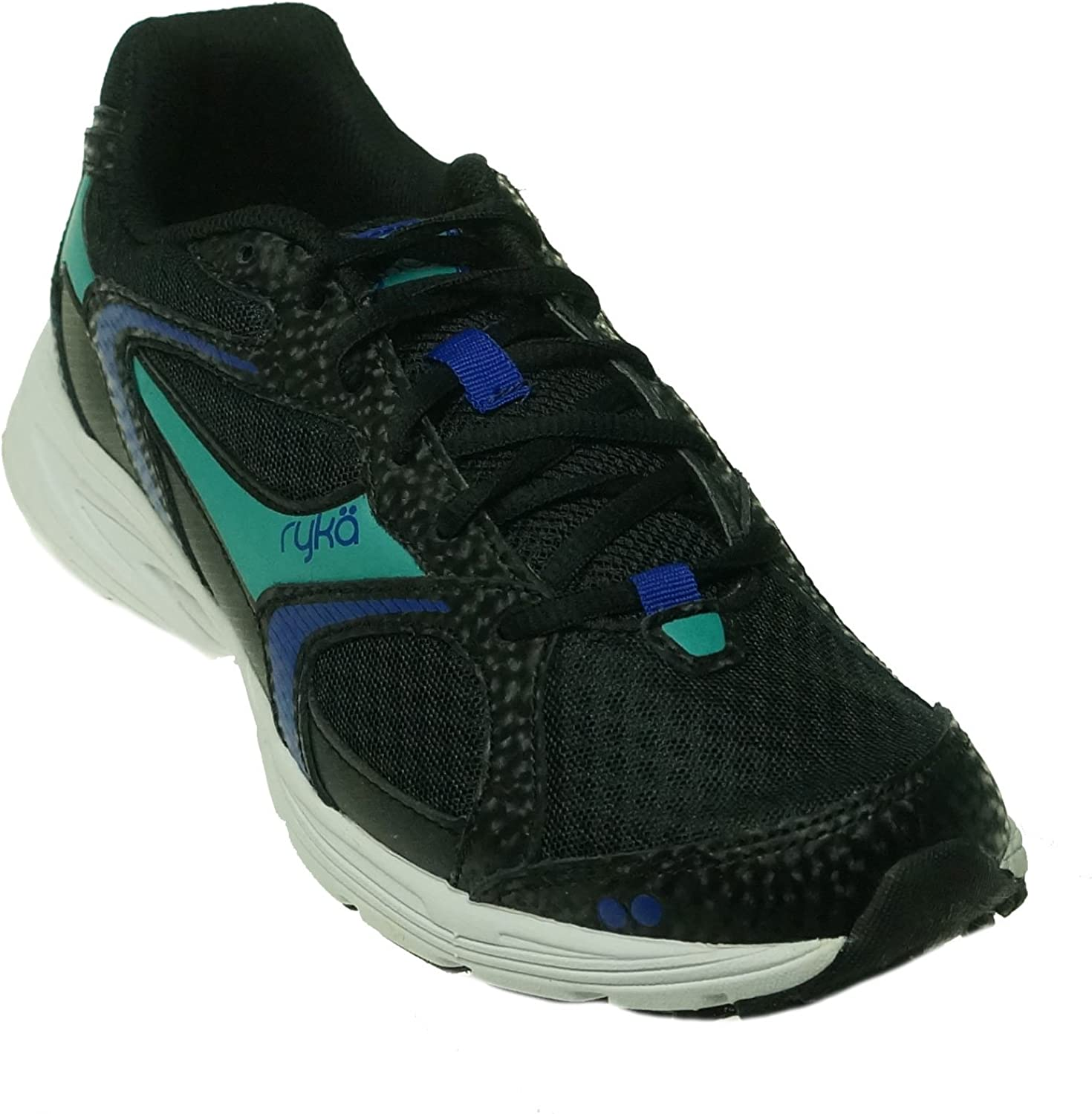 Ryka Streak SMR Women Walking Shoe Black Blue, 7