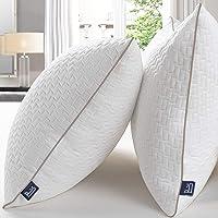 BedStory Almohada 42x70 Bambú Almohada Antiácaros 2 Pack con Funda de Lavable…