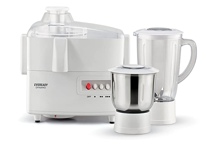 Eveready Dynamo 450-Watt Juicer Mixer Grinder (White) Juicer Mixer Grinders at amazon