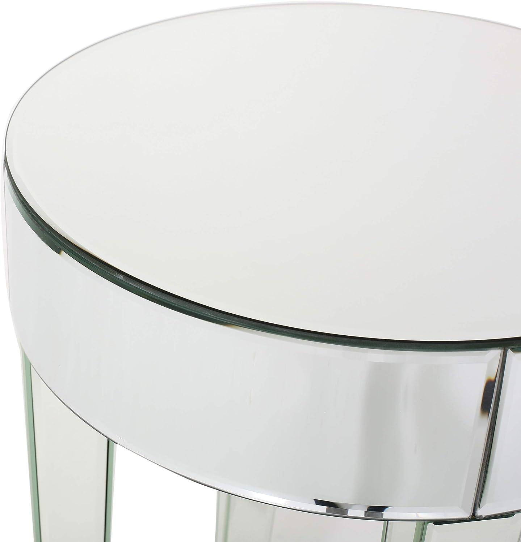 Christopher Knight Home Juliett Mirrored Round Table, Clear / Mirror