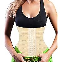 Vorcy kvinnors midjetränare viktminskning korsett magkontroll gördel band stålbenad fett brännare bälte bantning