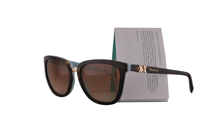 f7768317851 Amazon.com  Tiffany   Co. TF4123 Sunglasses Havana Blue w Brown Gradient  Lens 55mm 81343B TF4123 Tiffany Co. TF 4123 TF 4123  Clothing
