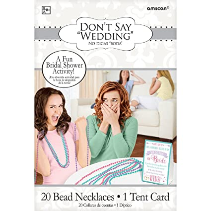 dont say bride bridal shower party game