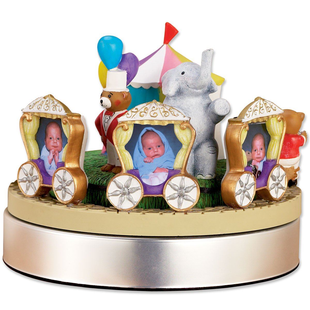 Lawrence Frames Wind Up Musical Circus Train Frame, Holds 3 2 by 3-Inch Photos 990023