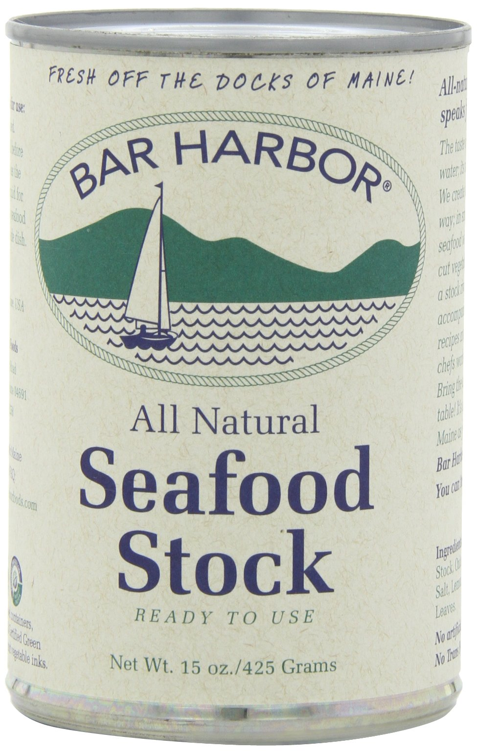 Bar Harbor Stock, Seafood, 15 Ounce (Pack of 6)
