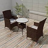 COSTWAY Conjunto Muebles de Ratán para Jardín Terraza Patio ...
