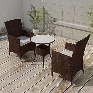 Fesjoy Juego de Comedor Al Aire Libre Mueble de Jardín Invernadero ...