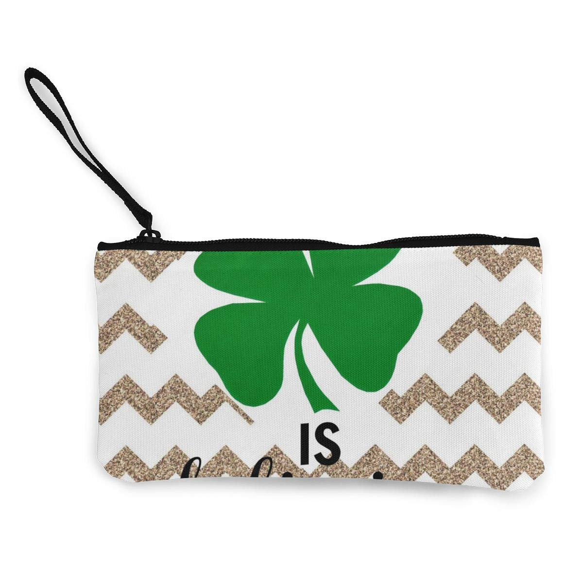 Maple Memories St.Patricks Day Shamrocks Portable Canvas Coin Purse Change Purse Pouch Mini Wallet Gifts For Women Girls