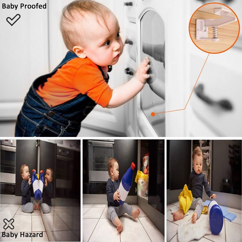Switched On Products Cerraduras de seguridad para armarios y gabinetes para ni/ños y beb/és