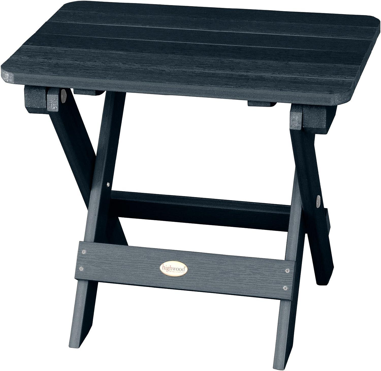 Highwood AD-TBS1-FBE Folding Adirondack Side Table, Federal Blue