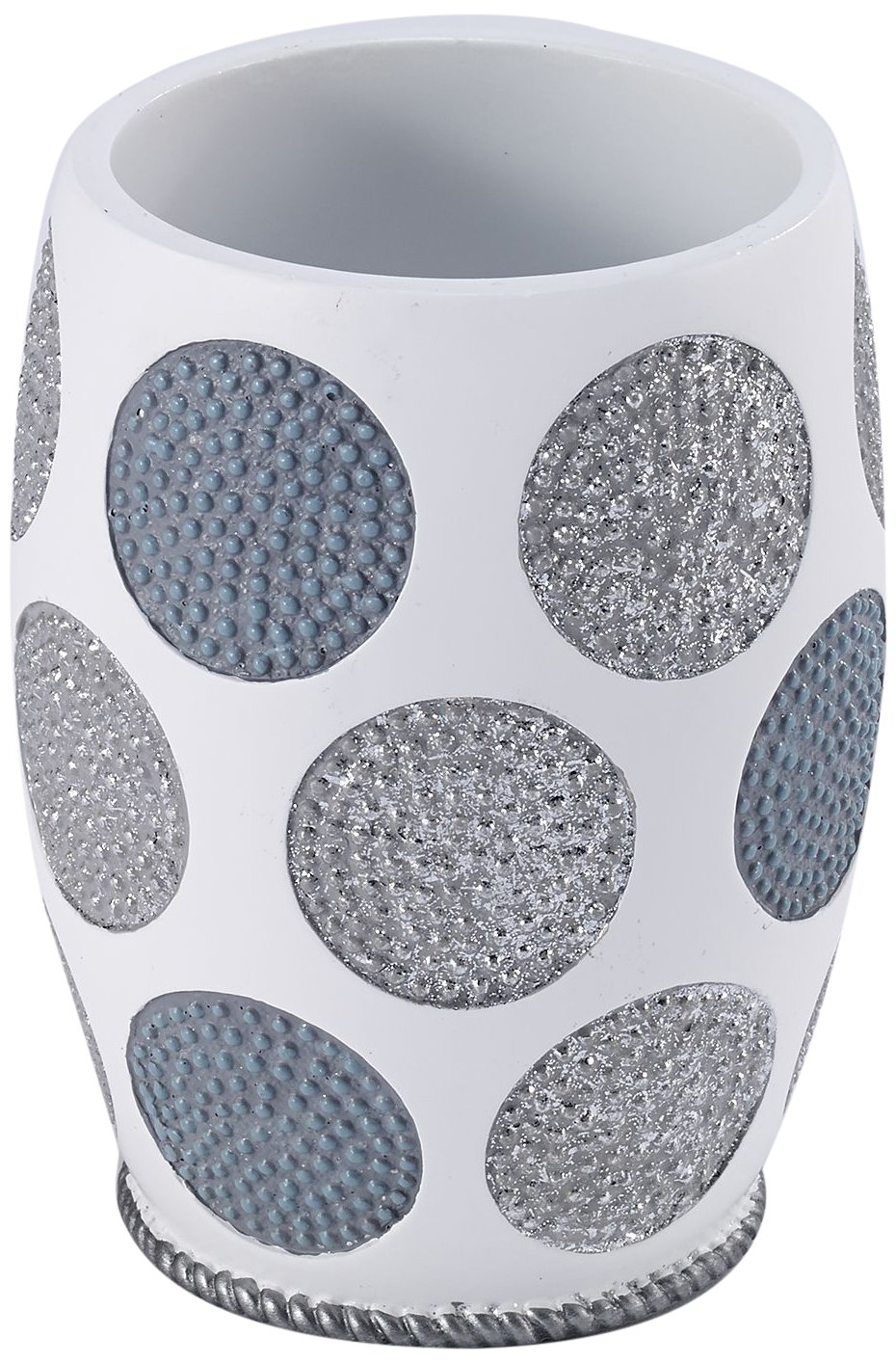 Avanti Linens 13870A WHT Dotted Circles Tumbler, White