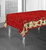 Manteles Red Flower Navidad Pascua estampados antimanchas Colores Primaverales Decoracion Hogar (350 x 150 cm)