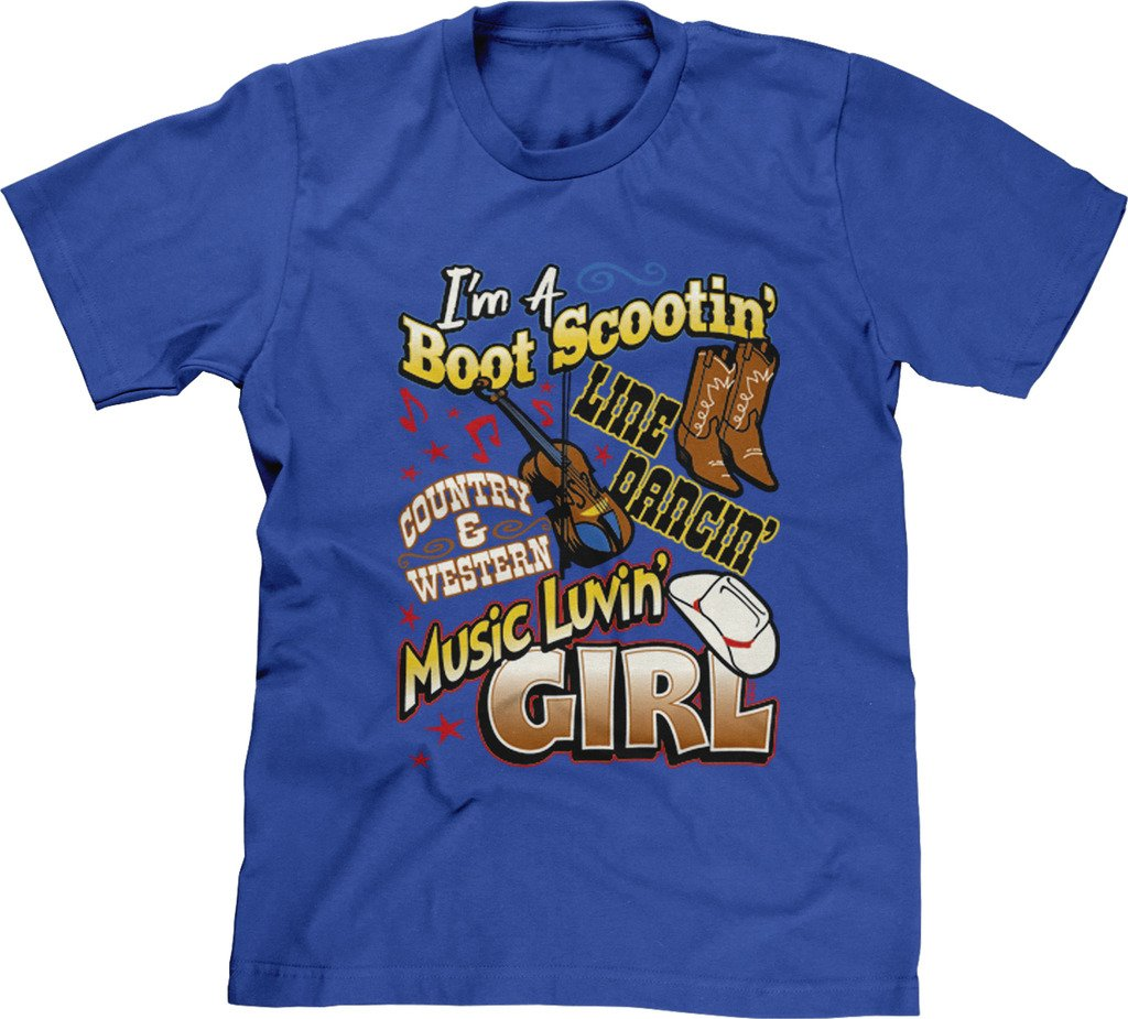 Blittzen Mens Boot Scootin' Line Dancin' Music Lovin, 2XL, Royal Blue