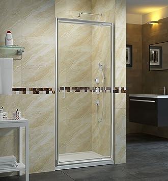 Cabina de ducha en técnicos 90 cm Mampara Puerta oscilante ...