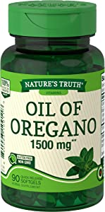 Oregano Oil Softgel Capsules | 1500mg | 90 Count | Contains Carvacrol | Non-GMO, Gluten Free| by Nature's Truth