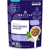Navitas Organics Mulberries, 8 oz. Bag — Organic, Non-GMO, Sun-Dried, Gluten-Free, Sulfite-Free