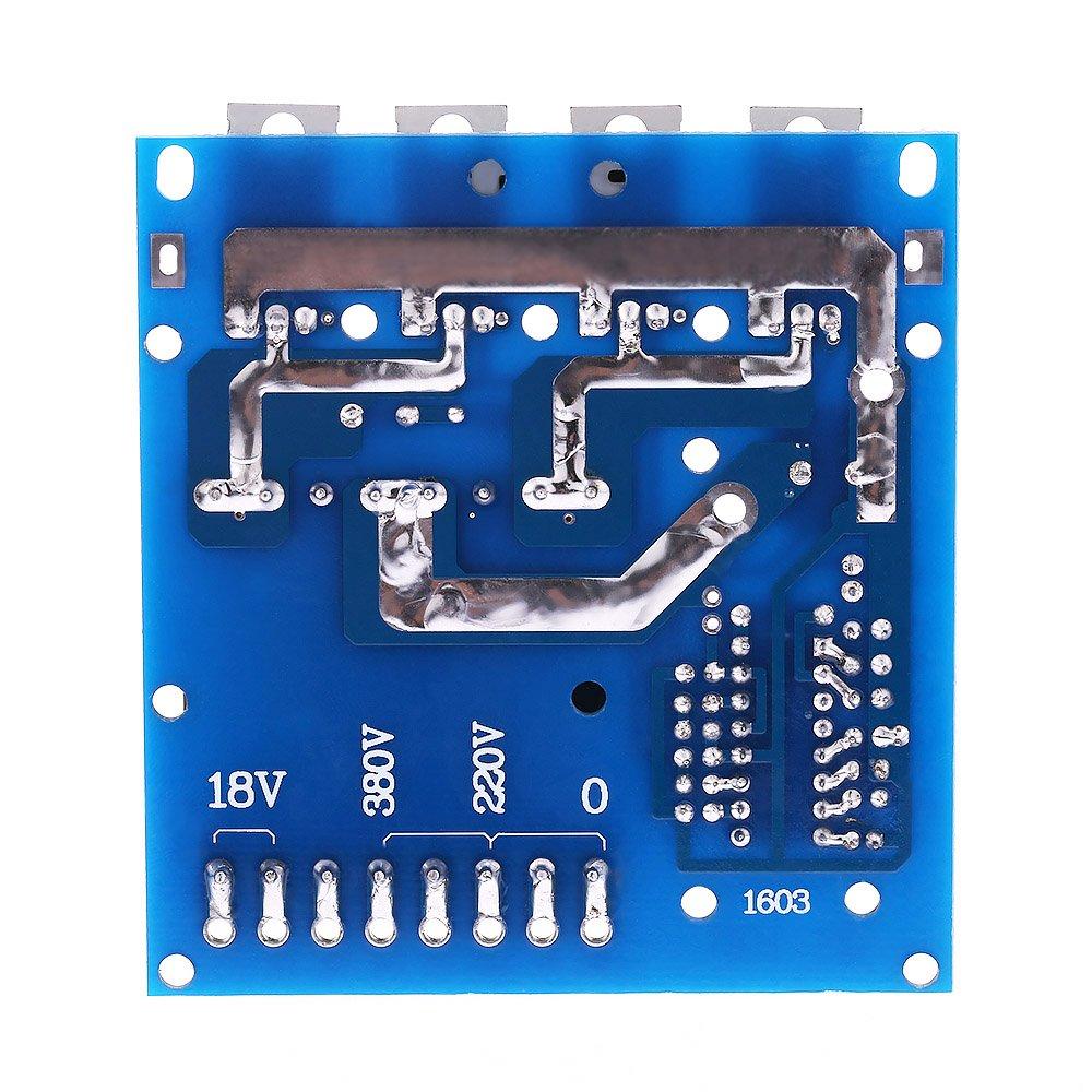 Fesjoy Tablero inversor,Convertidor DC-AC DC12V a 220V 380V 18V AC 500W Inversor Tablero Transformador Potencia