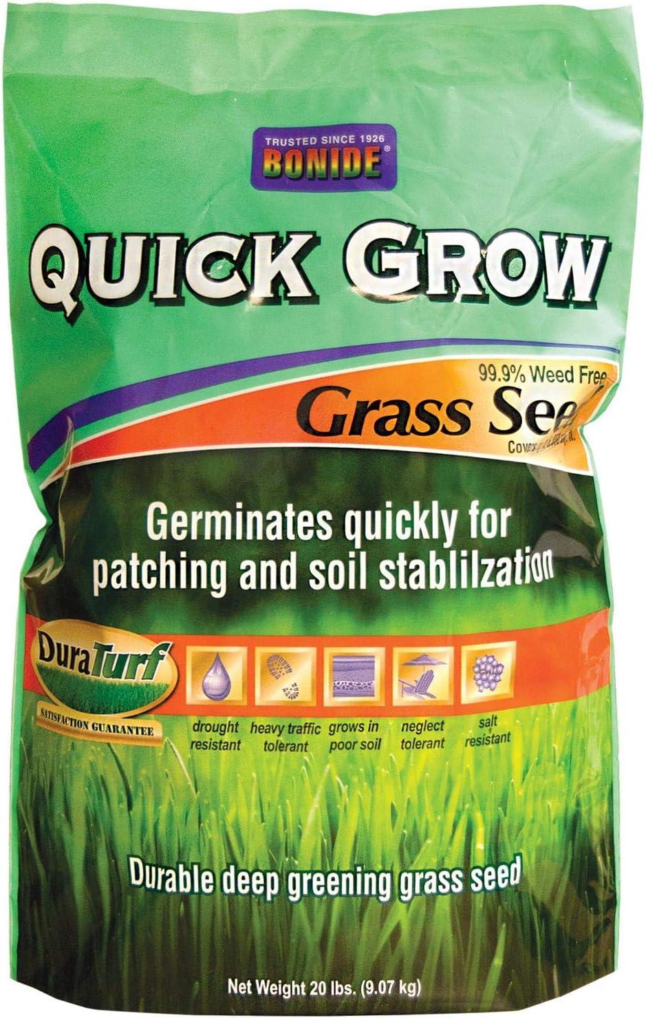 Bonide 60267 Quick Grow Grass Seed, 20-Pound