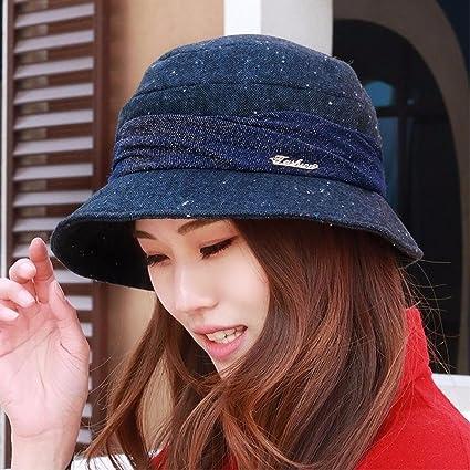 SAIBANGZI Hat Mujer Four Seasons Pot Cap Moda Pescador Sombrero Sombrero  Sombrero De Artista 68959bbfcea
