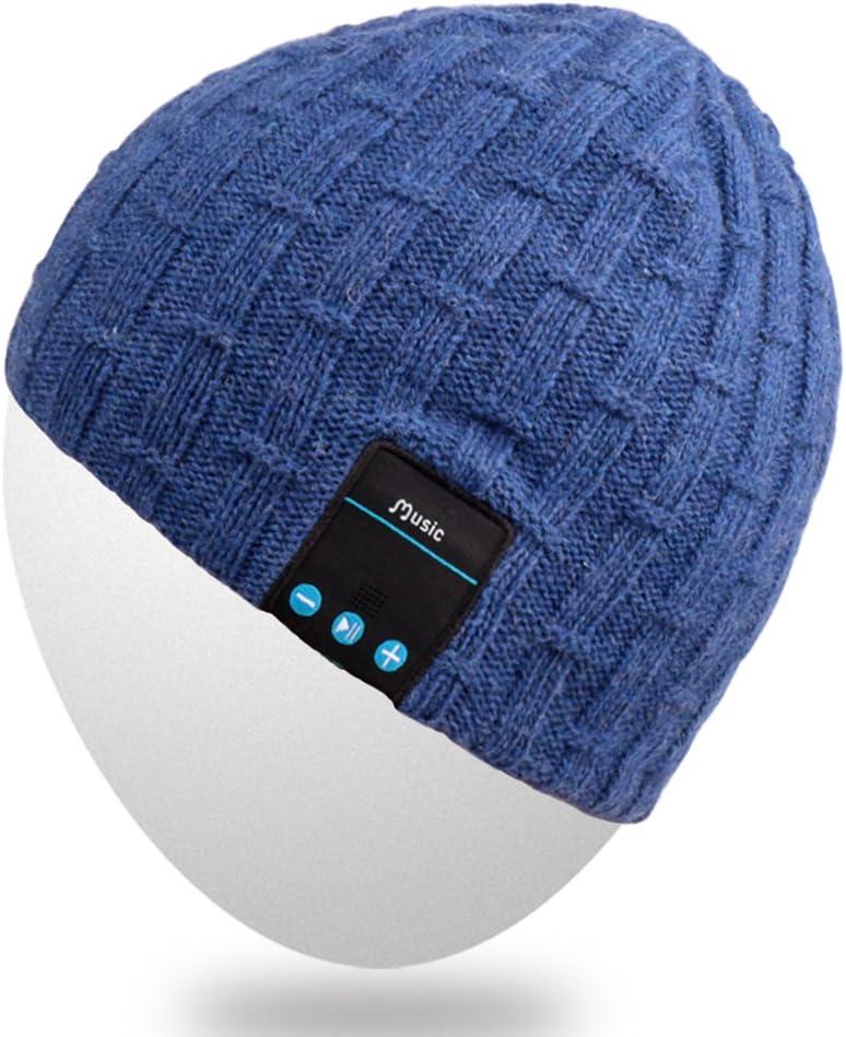 Winter Stylish Cap with Wireless Bluetooth Headpho Rotibox Bluetooth Beanie Hat