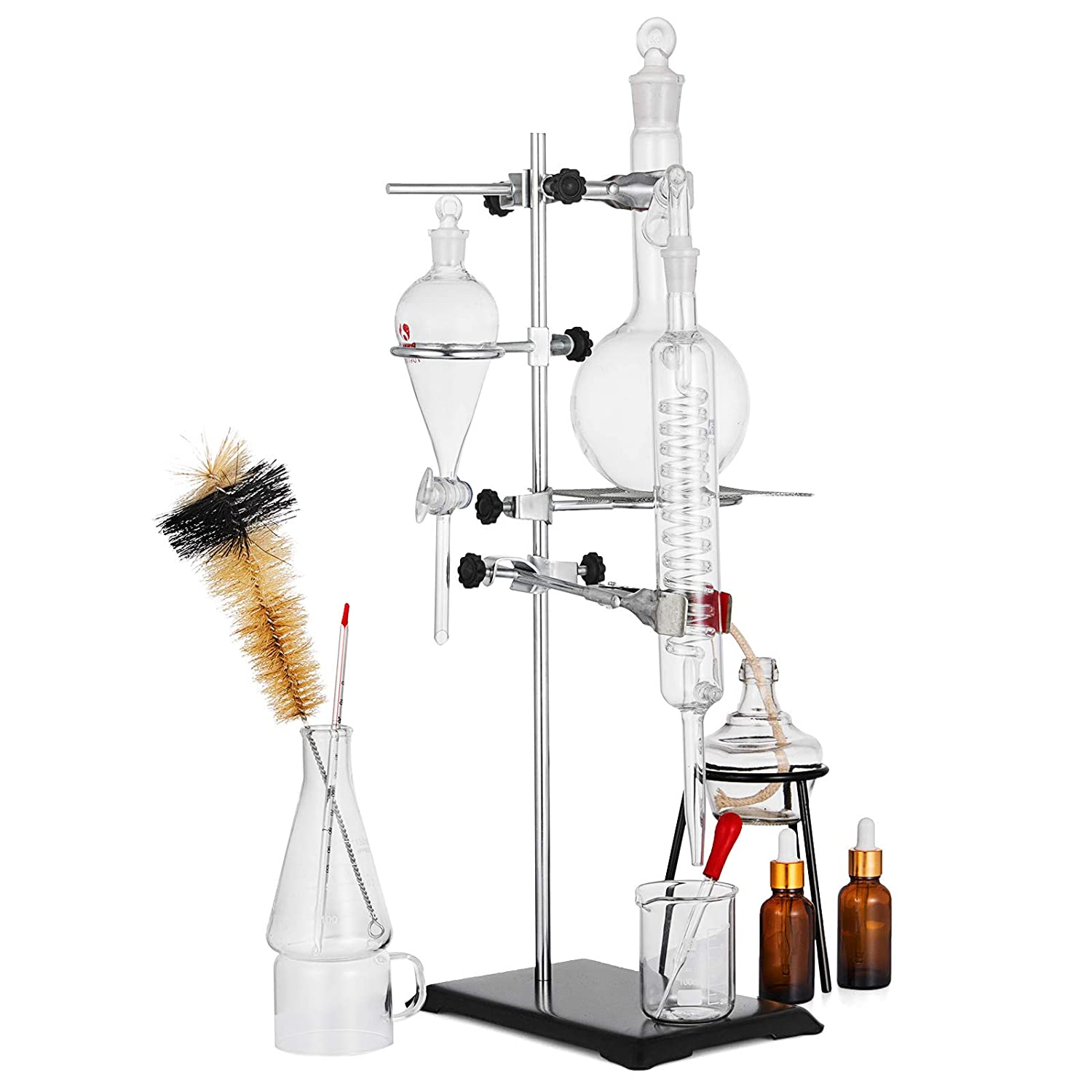 XFY Verre Unit/é de Distillation Laborchemie Aides /À lenseignement du Mat/ériel Denseignement Exp/érience Distiller Chimique Kit Dextraction Verrerie Sp/éciale