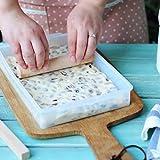 igemy DIY turrón bandeja molde de silicona herramientas de corte rodillo bandeja de horno Candy Clean