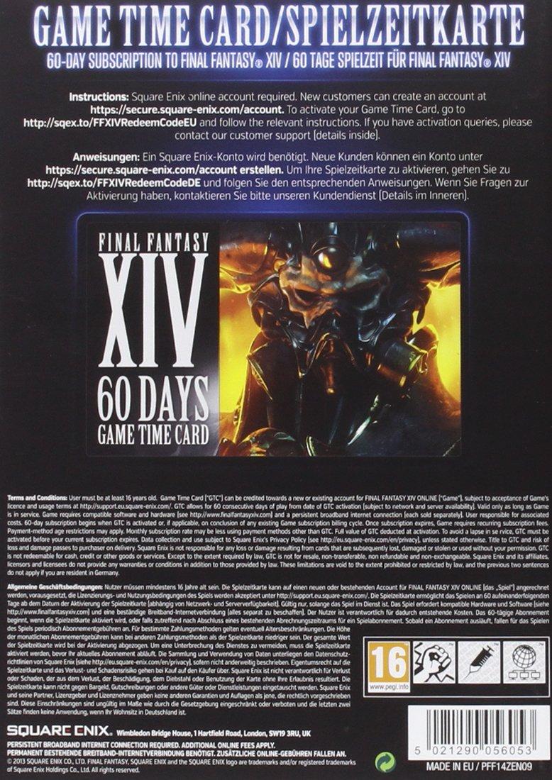 Final Fantasy XIV: A Realm Reborn (Tarjeta Prepago 60 días ...