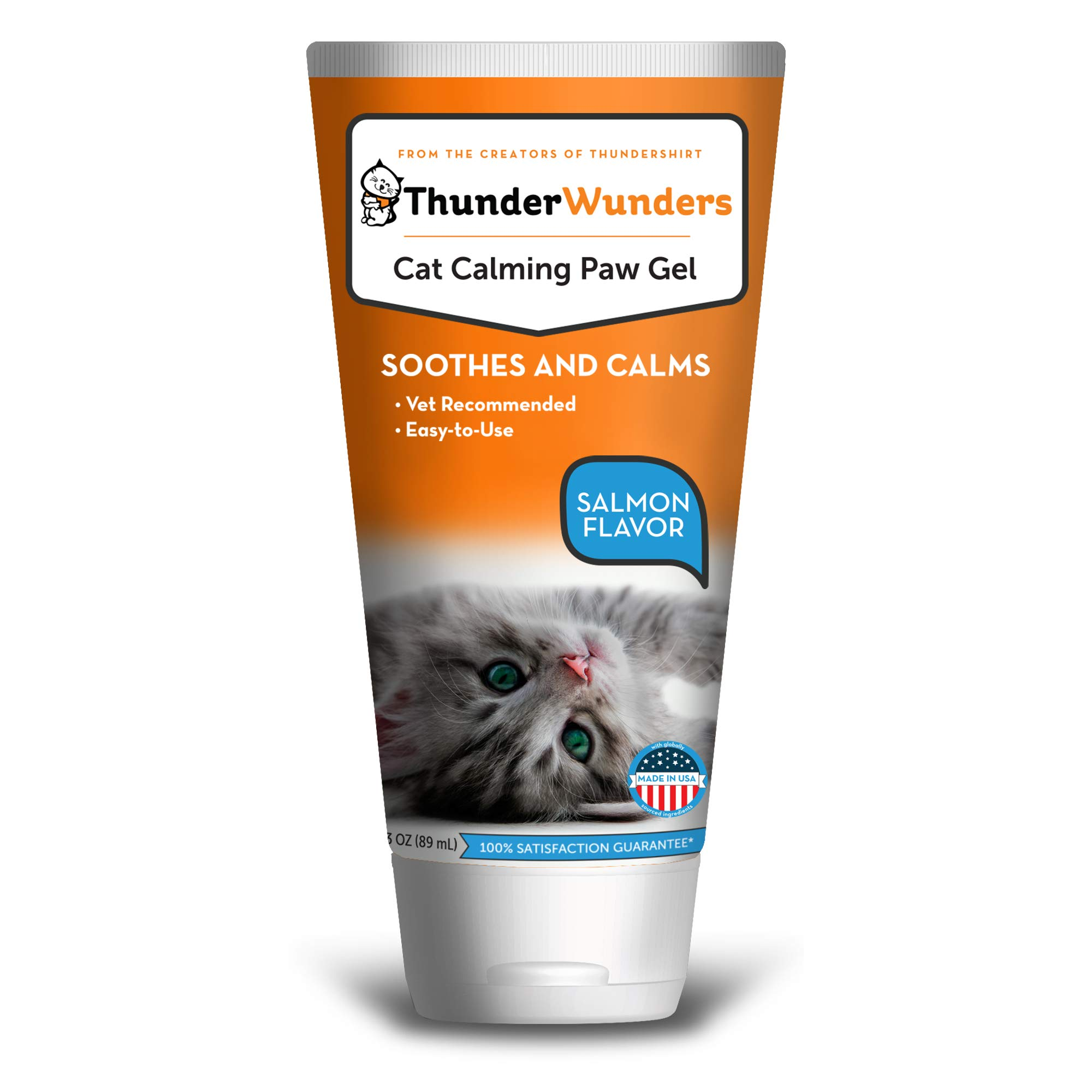 ThunderWunders Cat Calming Paw Gel | Vet Recommended to Help Reduce Situational Anxiety | Perfect for Vet Visits, Traveling, Visitors & More