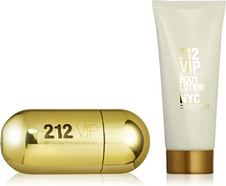 Carolina Herrera 212 VIP 50ml Eau de Parfum Vaporizador 100ml Body Lotion Gift Set ventaja para usted, 1er Pack (1 x 50 ml): Amazon.es: Belleza