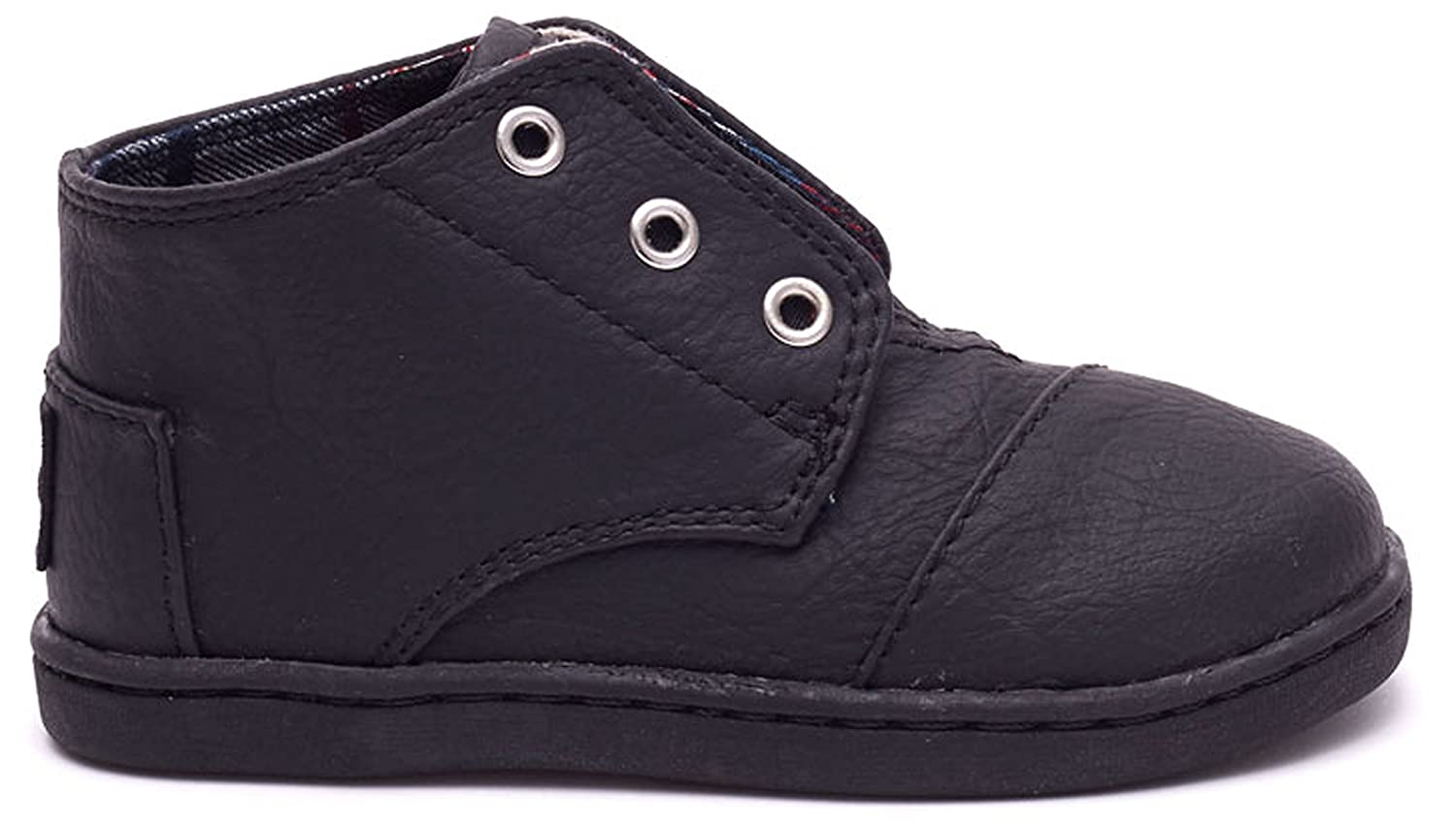 bcba9ee0f50 TOMS Kids Unisex Paseo Mid (Infant Toddler Little Kid) Black Synthetic  Leathe...  Amazon.in  Baby