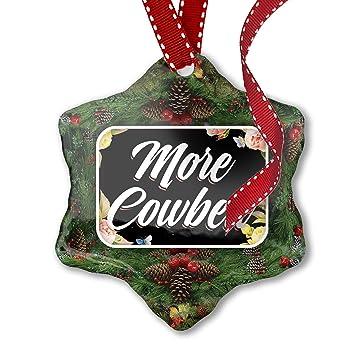 Image Unavailable - Amazon.com: NEONBLOND Christmas Ornament Floral Border More Cowbell
