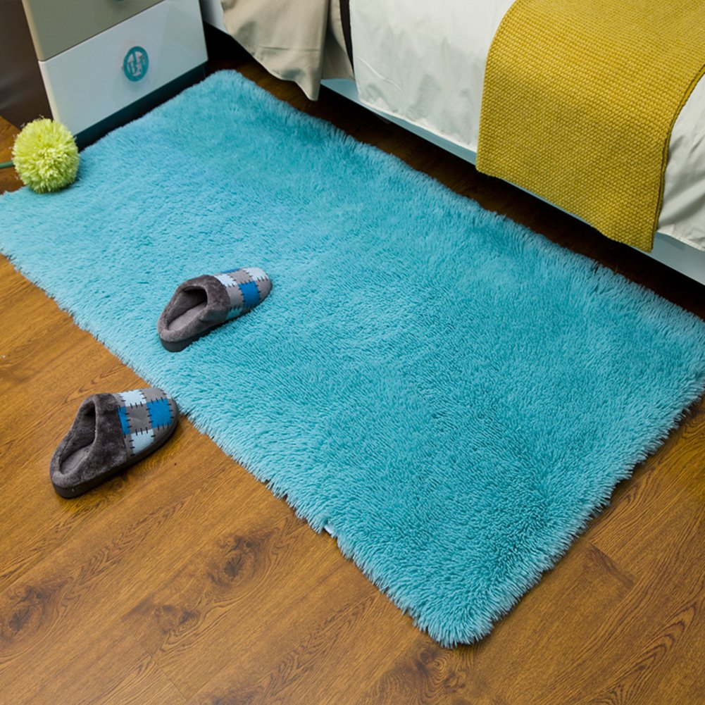Padded Washable Floor Mat Bedroom Bedside Mats Bay Window Kitchen Hallway Bathroom Absorbent Pad-B 130x200cm(51x79inch)