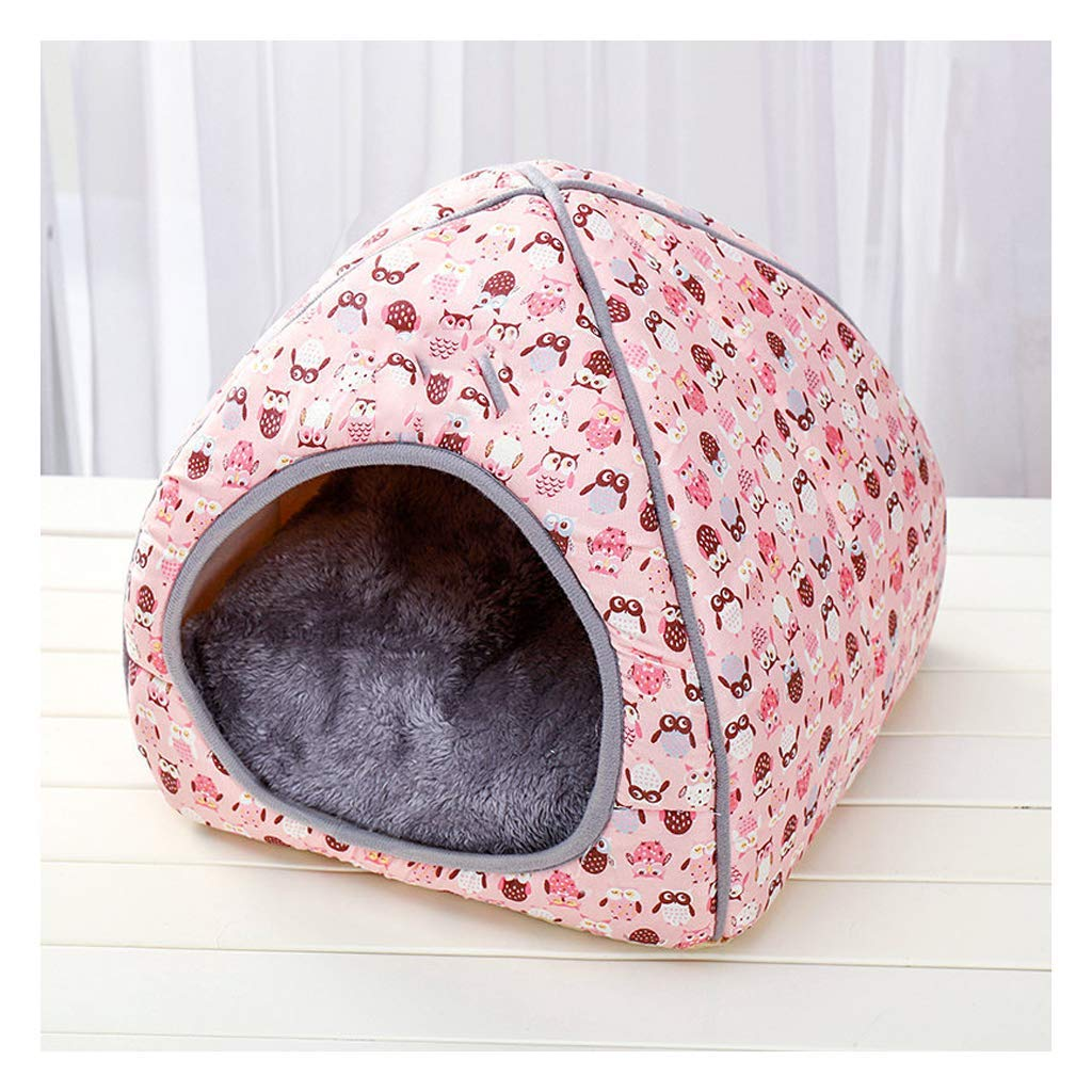 A X-Large A X-Large Pet Sofa Cat Litter House Closed House Folding Cat Villa Pet Supplies New Kennel Autumn And Winter,A,M (color   A, Size   X-Large)