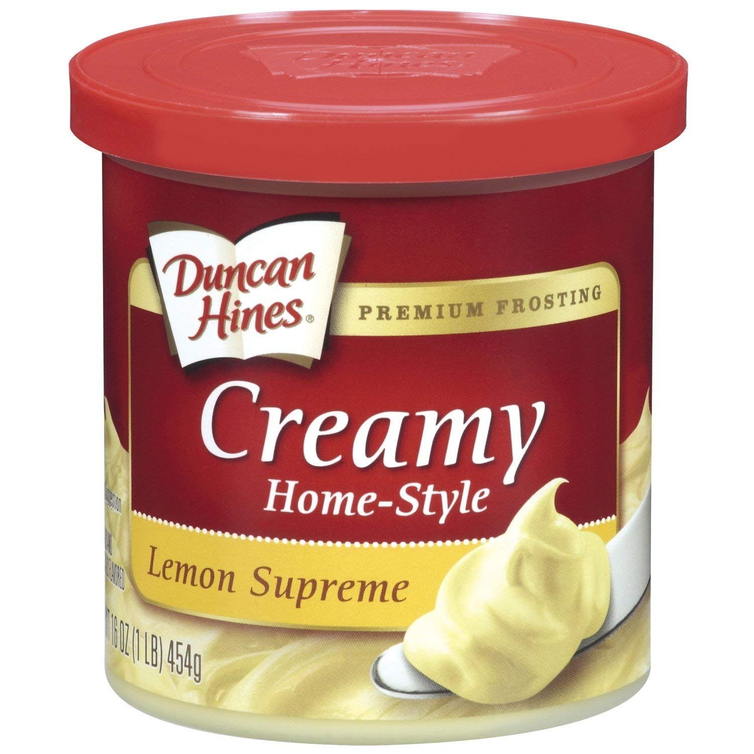 Duncan Hines Creamy Home-Style Frosting, Lemon Supreme,16 Ounce (Pack of 8)
