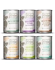 MjAMjAM Hundefutter Nassfutter Mixpaket II mit Huhn & Ente, Rind, Pute, Kalb, Truthahn, Lamm 6 Stück, 1er Pack
