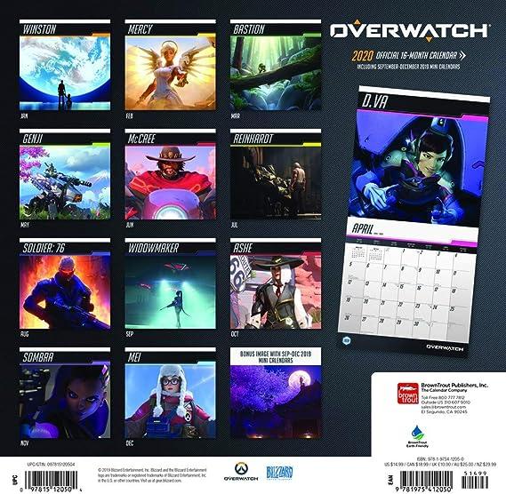 Overwatch Event Calendar 2021 Overwatch Calendar 2020 Set   Deluxe 2020 Overwatch Wall Calendar