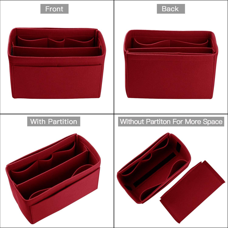 Felt Bag Organizer Insert For LV Speedy Purse Organizer Tote Handbag,Shaper 6 Colors 3 Sizes Neverfull