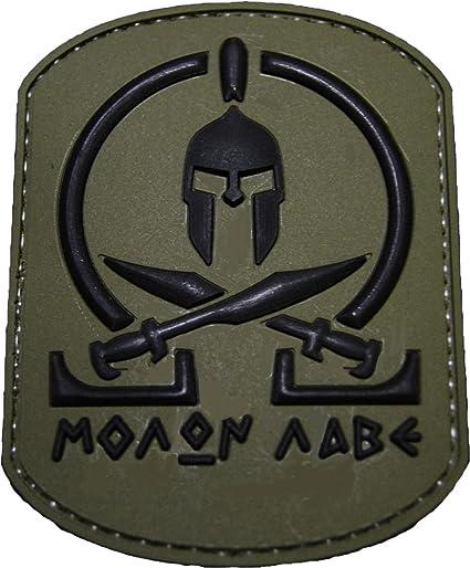 Amazon.com  Molon Labe OD Green PVC Spartan Morale Patch 25a3768256c