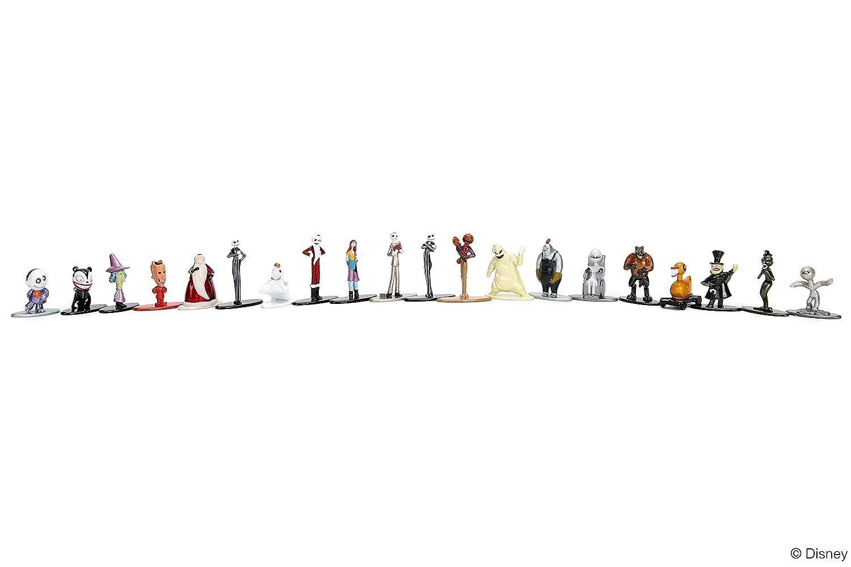 Nano Metalfigs 30122 Disney Nightmare Before Christmas Wave 1 Metals Die-Cast Collectible Figures Multicolor 1.65 Jada Toys 1.65