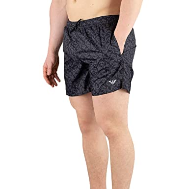 167ffad263 Emporio Armani Men's Printed Swimshorts, Black | Amazon.com